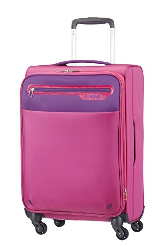 American Tourister Lightway Super Light Spinner 55/20 Exp, 4 Ruote, 37.5 Litri, Pink/Purple