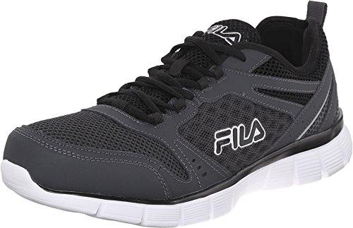 Fila Men's Memory Deluxe SE-M Running Shoe, Castlerock/Castlerock/Black, 9 M US