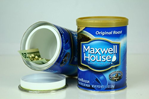 MAXWELL HOUSE COFFEE diversion can safe stash hidden safes hide cash jewelry money coins (Cash Container compare prices)