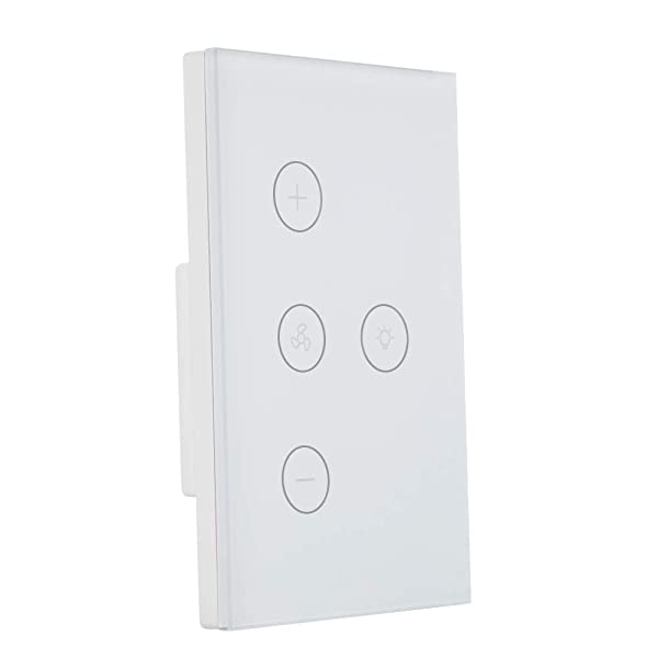 DHOUSE Smart Light Switch,WiFi Fan Celling Switch APP Remote Timer and Speed Control Compatible with Amazon Alexa,Ehco and Google Home,FCC Certification,No Hub Required,Easy and Safe installation (Color: Light Fan Switches)