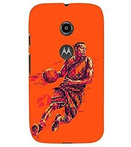 PRINTSHOPPII FOOTBALL GAME Back Case Cover for Motorola Moto E2::Motorola Moto E (2nd Gen)