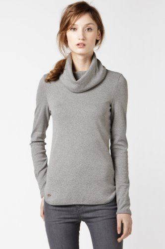 Long Sleeve 1x1 Rib Turtleneck T-shirt