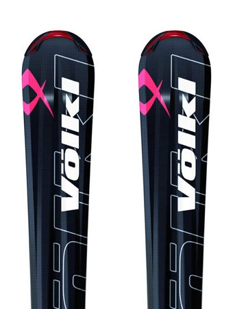 Volkl Sensor 2 Skis With Marker Bindings 168cm, Black/Red
