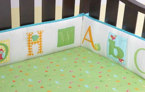 Laura Ashley Baby Owlphabet 4 Piece Bumper Set Color: Sage - 1