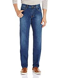 Fox Men's Straight Fit Jeans (418419111034_418419_36W x 32L_Jeans and Navy)
