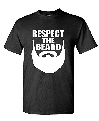 Short Sleeve RESPECT THE BEARD manly funny joke hipster - Mens Cotton T-Shirt