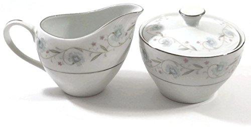 English Garden Fine China Sugar with Lid Creamer Japan 1221 English Garden Fine China Japan