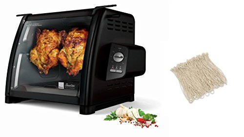 Check Out This Ronco ST5500BLGEN Rotisserie Oven, Black, Plus Rotisserie Elastic Food Ties