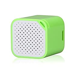 Mobilegear SMART BOX Smallest Mini Bluetooth Speaker With Selfie Shutter, Hands-Free & Anti Lost Function - Green
