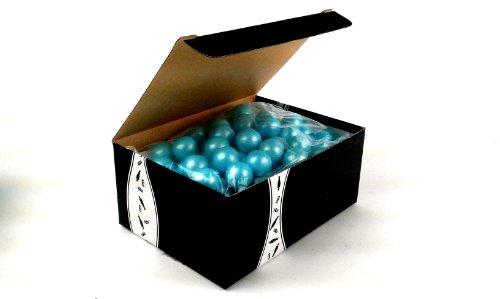 Sweetworks Celebration Shimmer Powder Blue Gumballs, 1 Lb Bag In A Gift Box front-792313