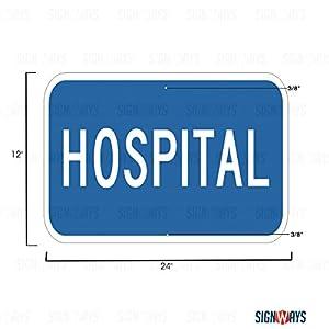 D9-13aP, Hospital Sign, 24
