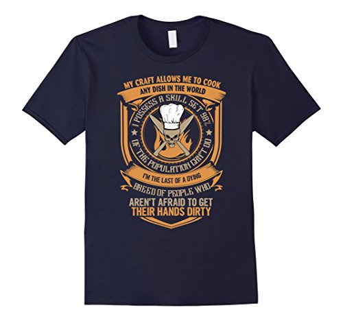 Men's Chef T-shirt Medium Navy (The Pampered Chef Can Opener compare prices)