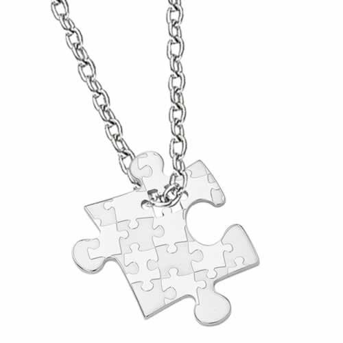 Puzzle-Design Stainless Steel Pendant (Stainless Steel Chain Included)