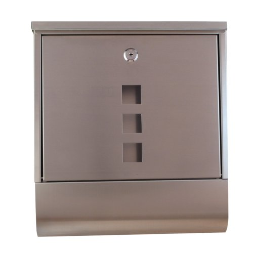 Tmedia Modern Lockable Stainless Steel Letterbox/Mailbox/Postbox & Newspaper Holder Wall Mounted Postbox (Type-C)with Original key tag