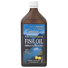 Carlsons lemon-flavored fish oil... high quality, and tastes great.