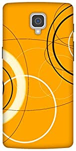The Racoon Lean printed designer hard back mobile phone case cover for Oneplus 3. (Mad Circle)