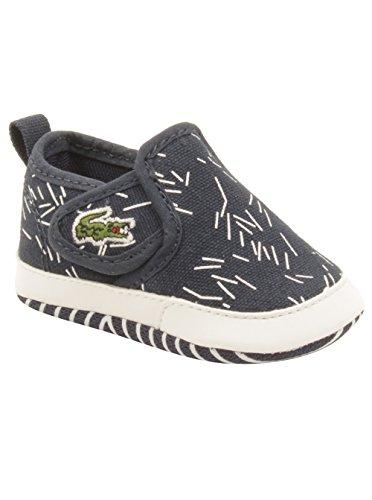 Lacoste Baby Gazon Crib 316 Sneakers in Navy 1 W US