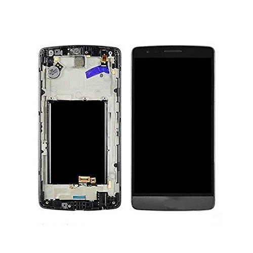 Oem For Lg G3 D850 D851 D855 Ls990 Lcd Display Touch Screen Digitizer Glass Assembly With Frame Replacement Parts, Dhl Shipping (Black/Grey)