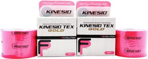 NEW Kinesio Tex Gold FP FingerPrint Tape - Red - 2quot x 16439 Pack of 2 Rolls