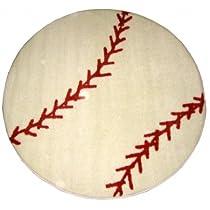 Fun Rugs Fun Time Shape FTS-005 Baseball Area Rug - Multicolor