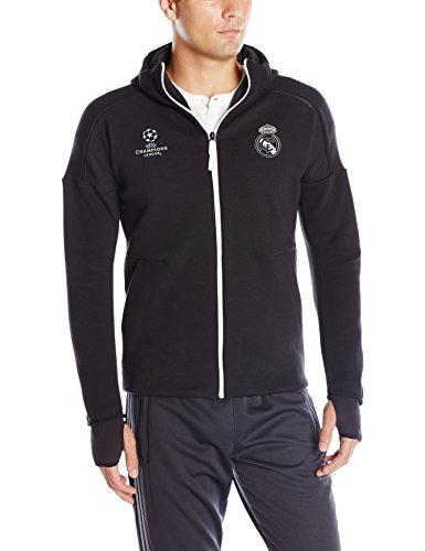 Adidas Real Madrid CF Anthem Zip Top-BLACK (M) (Adidas Real Madrid Cf compare prices)