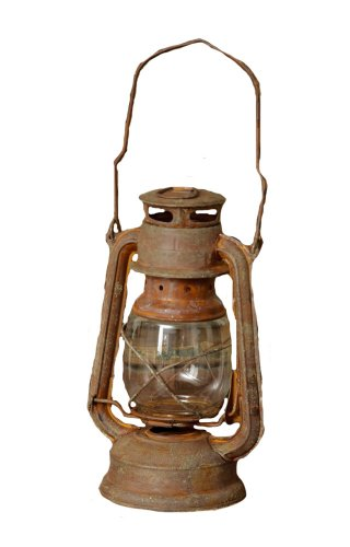 Your Heart'S Delight Rust Vintage Railroad Lantern, 9-1/4 By 4-1/2-Inch