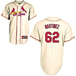 Carlos Martinez St Louis Cardinals Alternate Ivory Replica Jersey by Majestic by Majestic