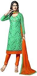 Shyam Suits Women's Cotton Unstitched Salwar Suit (LUCKY062)