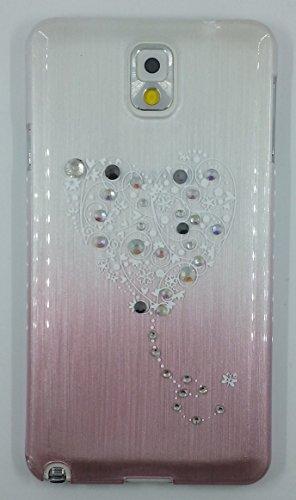 """Crystal Fashion"" Crystal Studded Loving Heart Cartoon Hard Shell Cover For Samsung Galaxy Note 3 (Yylsz-N3-1)"