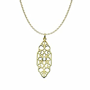 Kit Heath Filigree with Topaz Gold Plated Necklace of 45.6cm