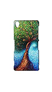 Colorful Tree Pattern Stylish Mobile Case/Cover For Sony Xperia Z3