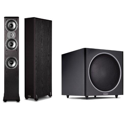 Polk Audio Tsi 400 Floorstanding Speaker (Pair) Plus A Polk Audio Psw125 12-Inch Powered Subwoofer