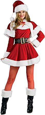 Rubie's Costume Women's Santa's Sexy Helper Dress, Red/White, Small