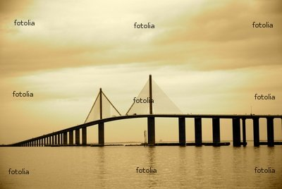 """Wallmonkeys Peel and Stick Wall Decals - Skyway Bridge in Tampa, Florida - 24""""W x 16""""H Removable Graphic"""
