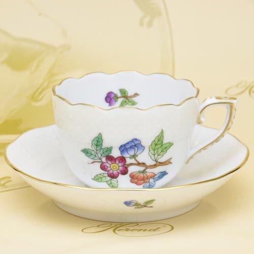 ヘレンド(Herend) デミタスコーヒーカップ&ソーサー(00711) ヴィクトリア・プレーン⑥(VA) ハンドペイント [並行輸入品]