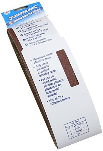 silverline-625574-sanding-belts-75-x-533-mm-120-grit-pack-of-5