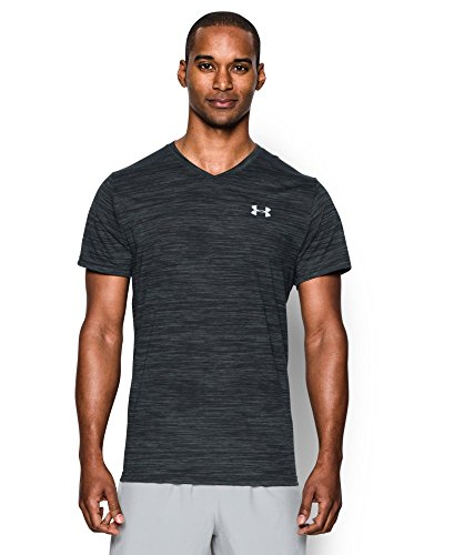 Under Armour Men's Streaker Run V-Neck T-Shirt, Anthracite (016), Small
