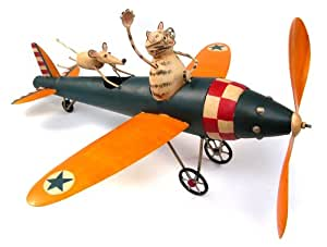 Cat Aviator and Mouse Whirligig