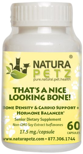 Natura Petz That's A Nice Looking Bone, Bone and Heart Support, Hormone Balancer Extract (Useful for Osteoporosis), 60 Capsules, 17.5mg Per Capsule