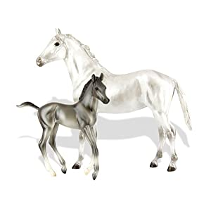 Breyer Grey Thoroughbred and Foal - Classics Toy Horse Playset