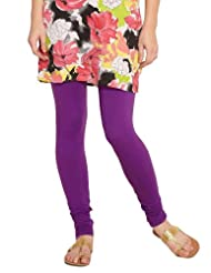 Diva Women's Cotton Knit Purple Churidar - L