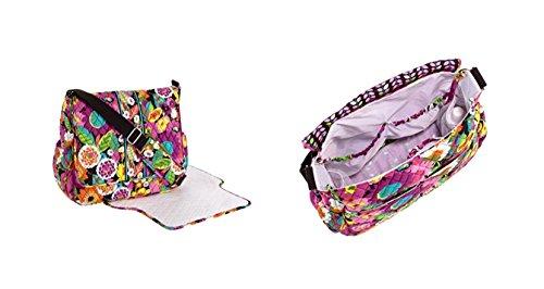 Vera Bradley Messenger Baby Bag (Va Va Bloom)