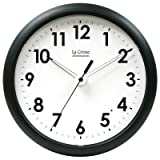 La Crosse Illuminated 403-310A 10 Inch Black frame clock