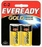 Eveready Gold Alkaline C Size Battery 2-Count (6-Pack)