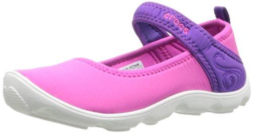 crocs Duet Busy Day Mary Jane GS, Mädchen Durchgängies Plateau Ballerinas, Pink (Neon Magenta/Neon Purple 6N4), 38/39 EU