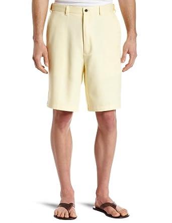 Haggar Men's Cool 18 Gabardine Hidden Expandable Waist Plain Front Short,Sun,30