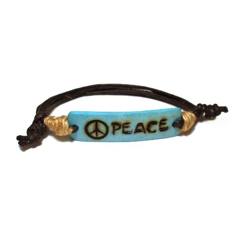 Coco ID Adjustable Burned Peace Eco-Friendly Fashion Bracelet