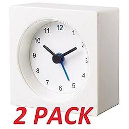 Ikea Decorative Alarm Clock Set of  2 Compact Size 2.75\