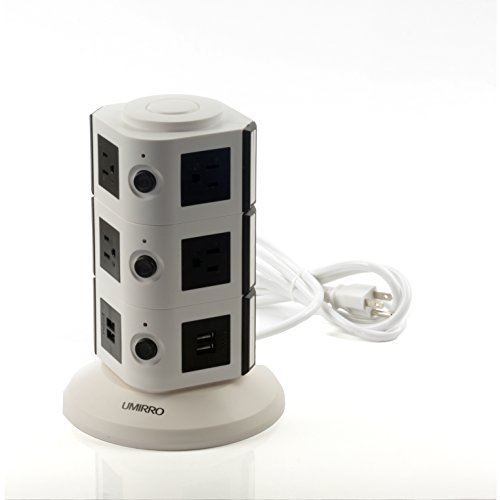 Fantastic Deal! Umirro 10-Outlet Power Strip with 4 USB Charging Ports - White