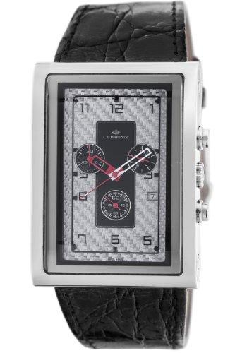 Lorenz Men's 025923BB TB7 Big Rectangular Chronograph Watch